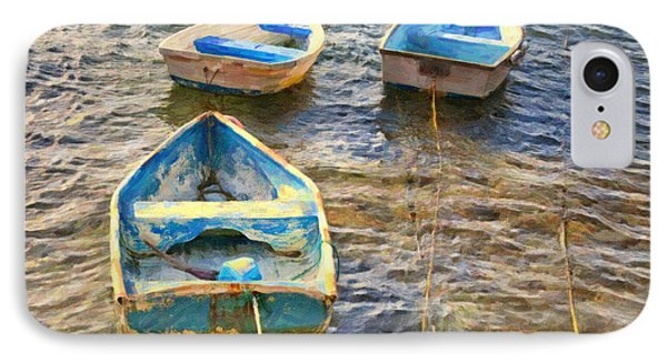 IPhone Case featuring the photograph Old Bermuda Rowboats by Verena Matthew
