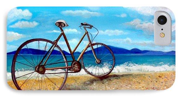 Old Bike At The Beach Phone Case by Kostas Koutsoukanidis