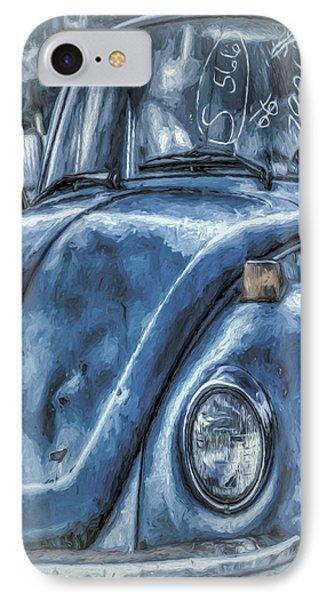 IPhone Case featuring the photograph Old Blue Bug by Jean OKeeffe Macro Abundance Art