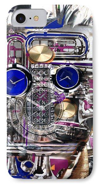 IPhone Case featuring the digital art Old Blue Eyes by Seth Weaver