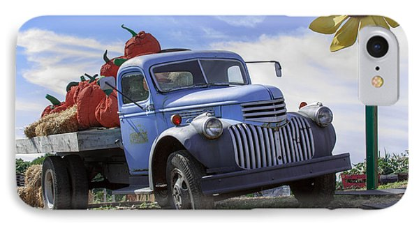 Old Blue Farm Truck  IPhone Case by Patrice Zinck