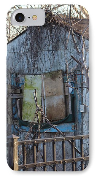 Old Blue Shack Phone Case by Tom Gari Gallery-Three-Photography
