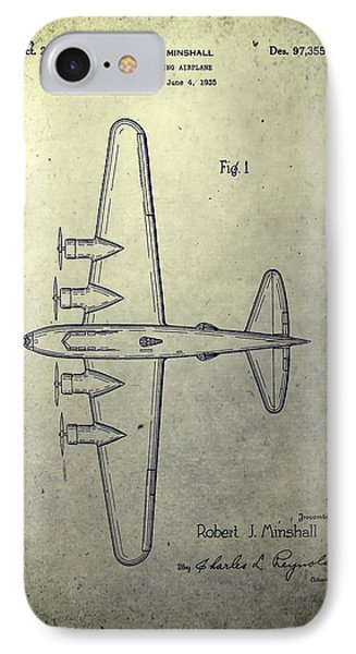 Old Bombing Aircraft Patent IPhone Case by Dan Sproul
