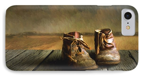 Old Boots IPhone Case by Veikko Suikkanen