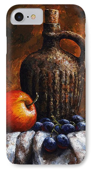 Old Bottle And Fruit IPhone Case by Emerico Imre Toth