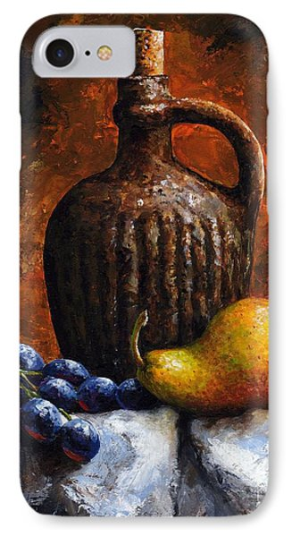 Old Bottle And Fruit II IPhone Case by Emerico Imre Toth
