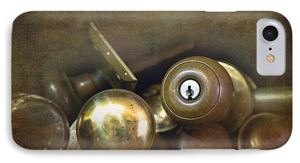 Old Brass Door Knobs IPhone Case