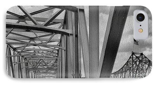IPhone Case featuring the photograph Old Bridge New Bridge by Janette Boyd