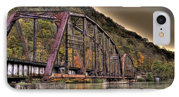 IPhone Case featuring the photograph Old Bridge Over Lake by Jonny D