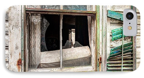 Old Broken Window And Shutter Of An Abandoned House Phone Case by Gary Heller