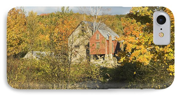 Old Buildings And Fall Colors In Vienna Maine Phone Case by Keith Webber Jr