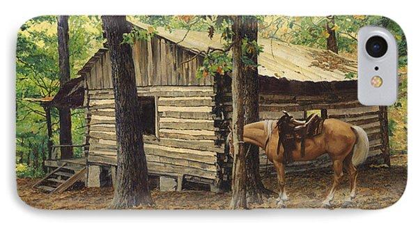 Log Cabin - Back View - At Big Creek IPhone Case