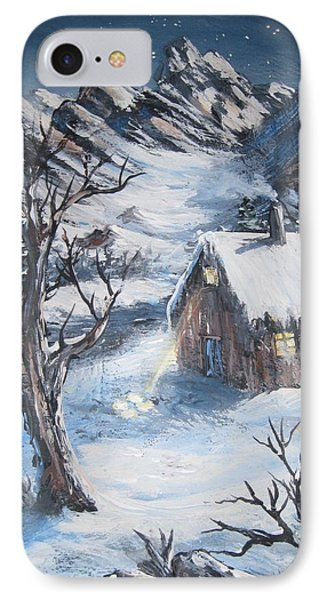 IPhone Case featuring the painting Old Cabin by Megan Walsh