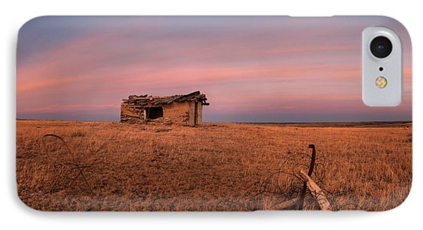 Old Cabin Sunset 1 IPhone Case by Leland D Howard
