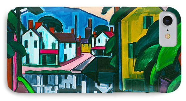Old Canal Port IPhone Case by Oscar Bluemner
