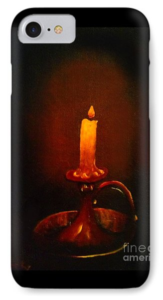 Old Candle Stick Painting IPhone Case