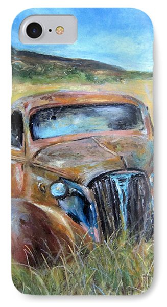 IPhone Case featuring the painting Old Car by Jieming Wang