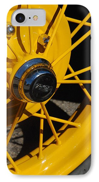 Old Car Wheel Phone Case by T C Brown