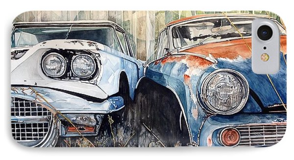 Old Cars Phone Case by Lance Wurst