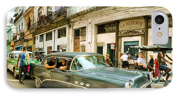 Old Cars On A Street, Havana, Cuba IPhone Case by Panoramic Images