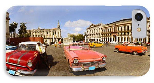 Old Cars On Street, Havana, Cuba IPhone Case