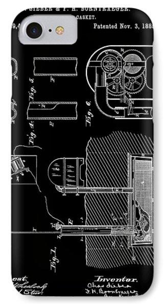Old Casket Patent IPhone Case