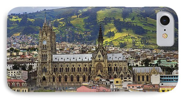 Old Cathedral In Quito Ecuador IPhone Case by Al Bourassa