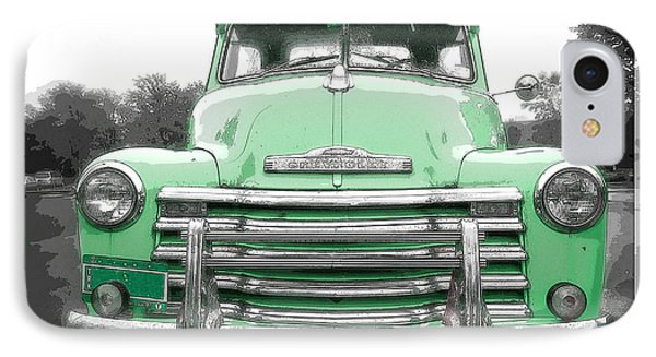 Old Chevy Pickup Truck IPhone Case by Edward Fielding