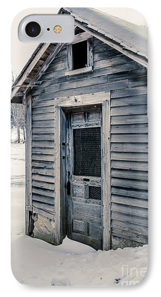 Old Chicken Coop Etna New Hampshine In The Winter IPhone Case by Edward Fielding