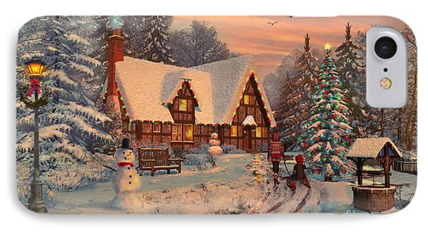 Old Christmas Cottage IPhone Case