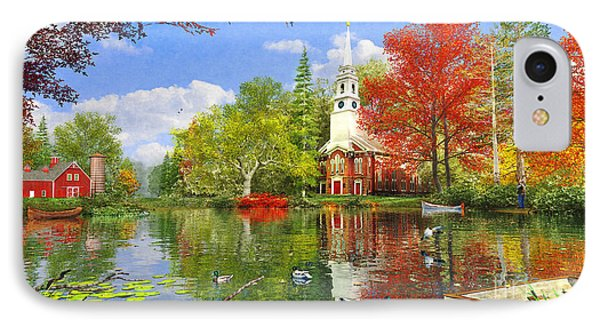 Old Church At Autumn Lake IPhone Case