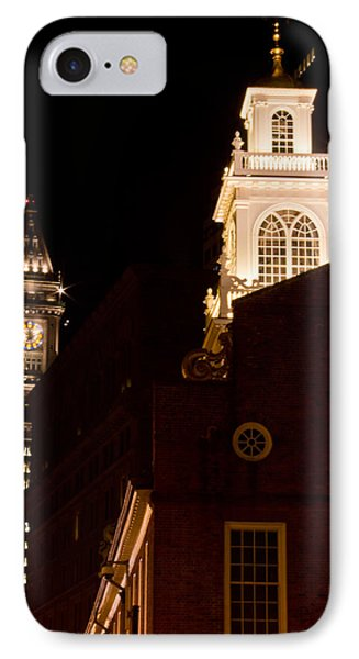 Old City Hall And Custom House Tower IPhone Case by John McGraw