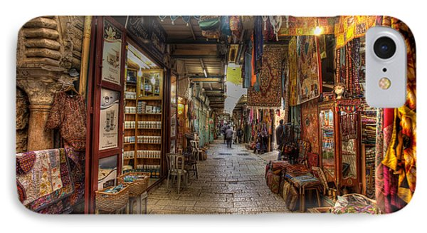 IPhone Case featuring the photograph Old City Market by Uri Baruch