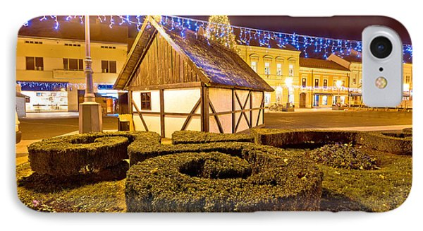 Old Cottage In Koprivnica Christmas View IPhone Case