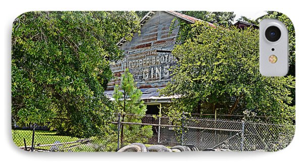 IPhone Case featuring the photograph Old Cotton Gin by Linda Brown