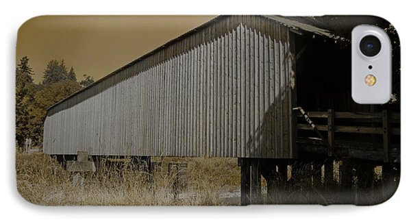 Old Covered Bridge  IPhone Case by Beverly Guilliams