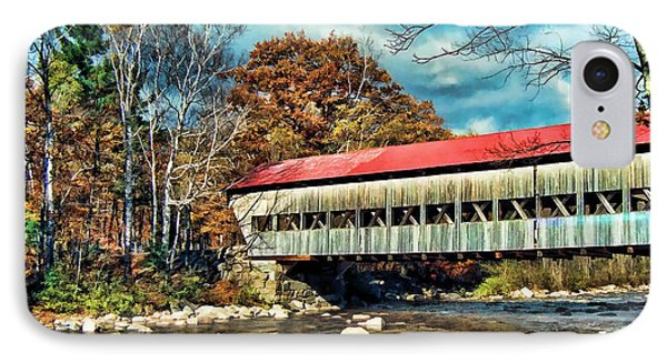 Old Covered Bridge IPhone Case by Kenny Francis