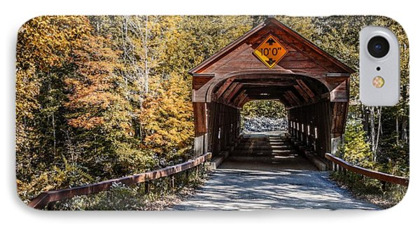 Old Covered Bridge Vermont Phone Case by Edward Fielding