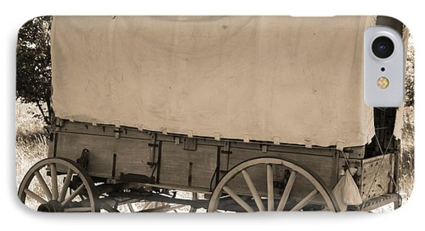 Old Covered Wagon Out West Phone Case by Dan Sproul
