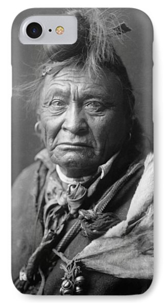 Old Crow Man Circa 1908 IPhone Case by Aged Pixel