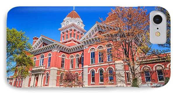 Old Crown Point Courthouse IPhone Case by Paul Velgos