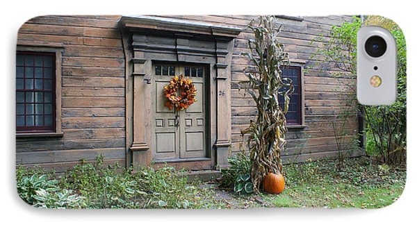 Old Deerfield Ma Doorway In Fall IPhone Case by Lois Lepisto