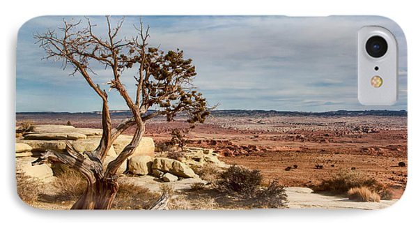 IPhone Case featuring the photograph Old Desert Cypress Struggles To Survive by Michael Flood