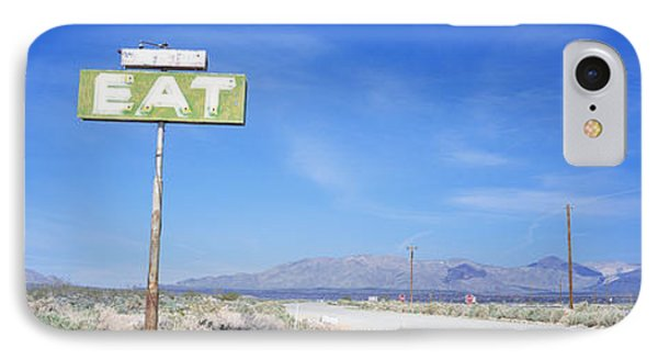 Old Diner Sign, Highway 395 IPhone Case by Panoramic Images