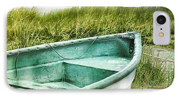Old Dinghy On The Beach Cape Cod Ma Retro Feel IPhone Case by Marianne Campolongo