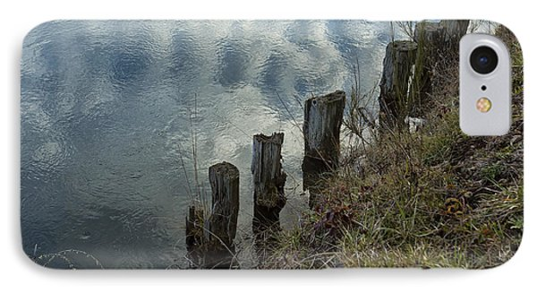 Old Dock Supports Along The Canal Bank - No 1 IPhone Case by Belinda Greb