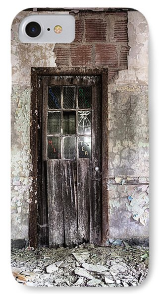Old Door - Abandoned Building - Tea Phone Case by Gary Heller