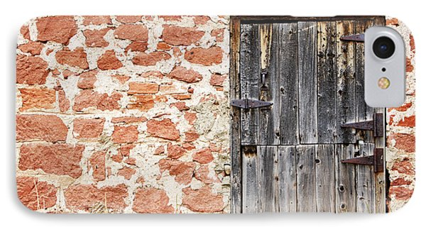 IPhone Case featuring the photograph Old Door In A Stone Wall by Lincoln Rogers