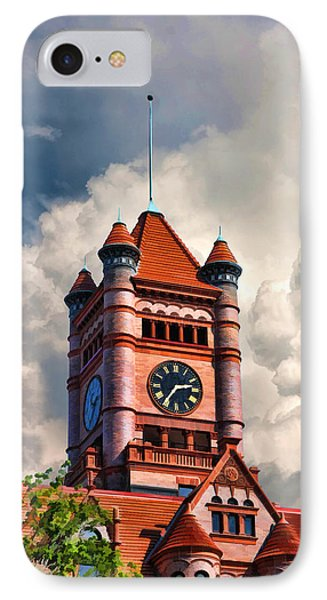 Old Dupage County Courthouse Clouds Phone Case by Christopher Arndt