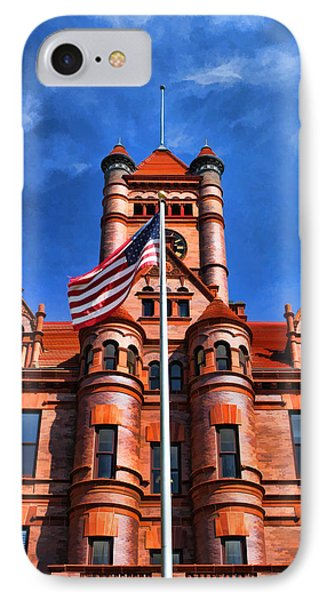 Old Dupage County Courthouse Flag Phone Case by Christopher Arndt
